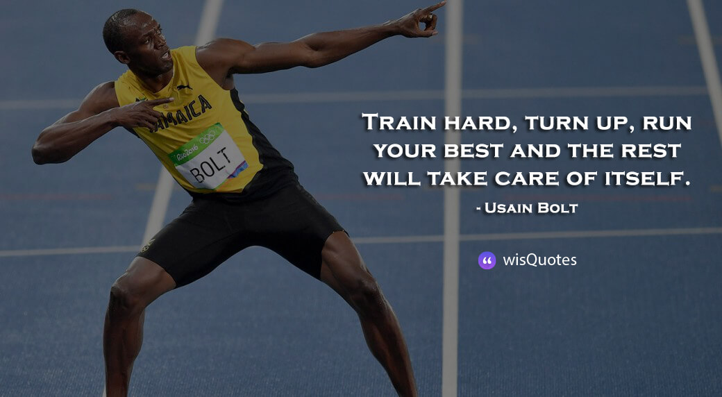 Train hard, turn up, run your best and the rest will take care of itself.