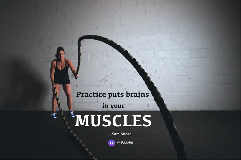 Practice puts brains in your muscles.